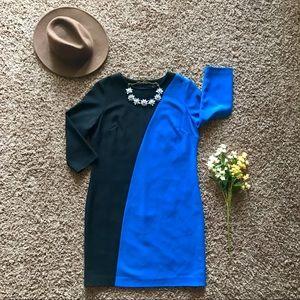 Ann Taylor Color Block Shift Dress